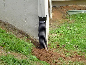 Gibbs lawn design drainage solutions for Gutter drainage systems design