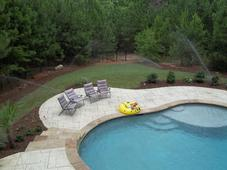 Sod, Landscaping around pool